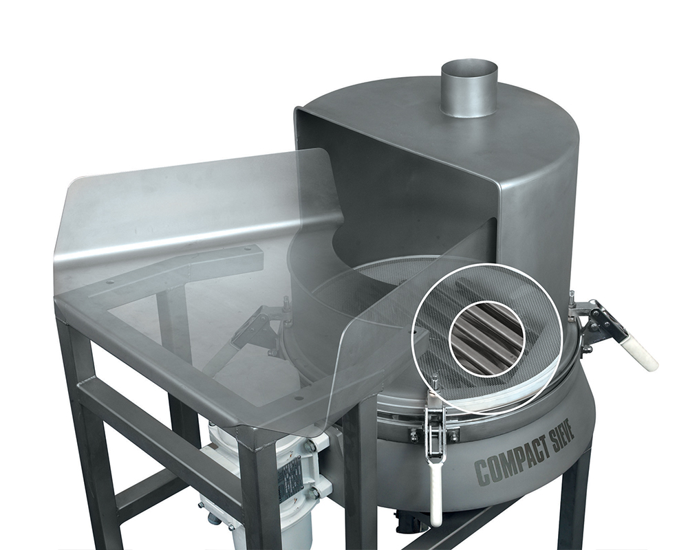 Vibro sieve for checking screening bagged ingredients