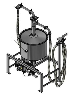 Sprzęt do usuwania i przechowywania proszku do produkcji przyrostowej